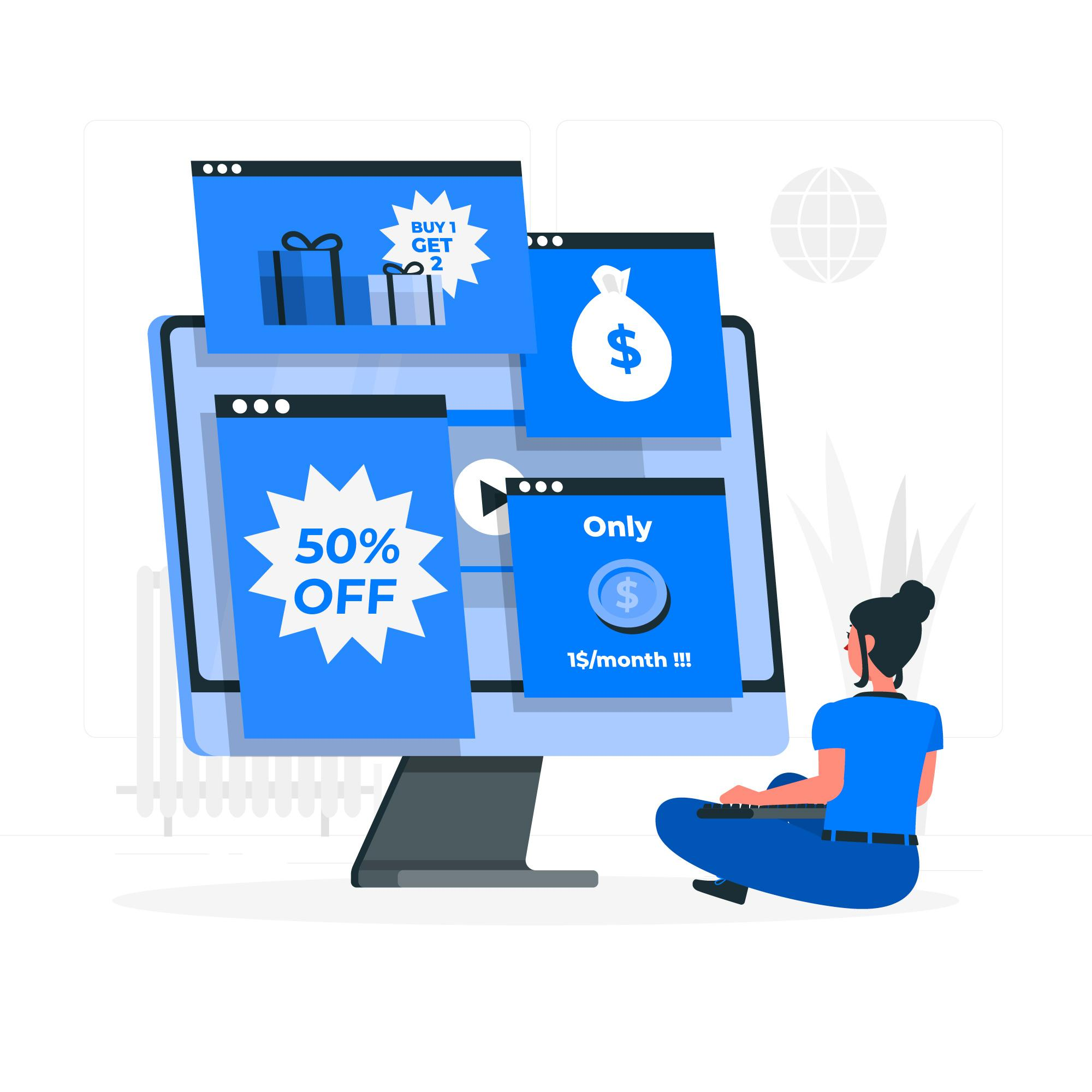 What are the three marketing objectives that can be met via targeting on google display ads